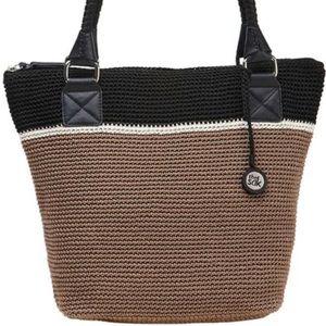 The Sak Cambria Crochet Black & Tan Purse